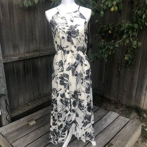 Mimi Chica Black and White Long Floral Dress